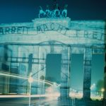 The Gateways of the Germans, Horst Hoheisel & Andreas Knitz, light installation on the Brandenburg Gate, Berlin, 27 January 1997